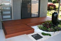 Deck Entrance Ideas, House Entrance, Walkway Ideas, Porch Ideas, Landscape Design Plans, Landscape Architecture Design, House Landscape, House Deck, House Front