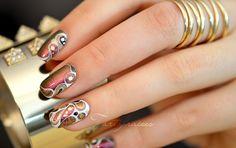 nail art abstrait fete