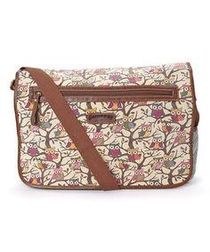Look at this #zulilyfind! Khaki Owl Messenger Bag by UNIONBAY #zulilyfinds