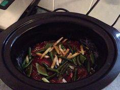 teriyaki steak Teriyaki Steak, Long Bean, Butter Beans, Slow Cooker Recipes, Gravy, Beef, Cooking, Food, Meat