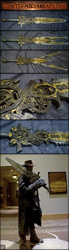 Eldritch Mechanical Sword (Gear driven Steampunk) by AetherAnvil - - - - *DROOL*