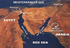 Mt. Sinai Found in Saudi Arabia (Arabia in Bible). The Sinai Peninsula at the time of the Exodus was an Egyptian Region (Bible says 'out of Egypt' the Israelites went). At Red Sea crossing are found Egyptian chariot wheels, human femur bone, horse hoof, etc