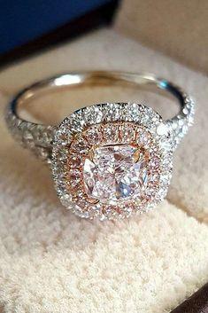 10 Fresh Engagement Ring Trends For 2018 ❤️ engagement ring trends white rose gold double halo diamond ❤️ See more: http://www.weddingforward.com/ring-trends/ #weddingforward #wedding #bride #engagementrings Eengagementringstrends