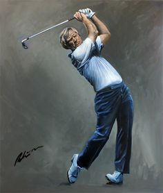 Golfing Greats are painted by the celebrated Sporting Artist, Mark Robinson. Original Oils, Acrylics and Watercolors are available, as affordable prints from the paintings as well as originals from the collection. Robinson Golf Art was set up to promote M Golf Man Cave, Golf Painting, Help For Heroes, Golf Card Game, Dubai Golf, Golf Images, Golf Art, Jack Nicklaus, Miniature Golf