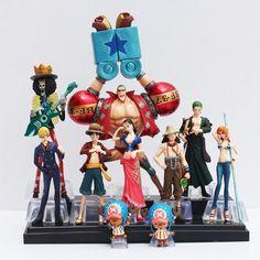 10pcs Japanese Anime One Piece Luffy Nami Roronoa Zoro Hand-done Action Figures | eBay