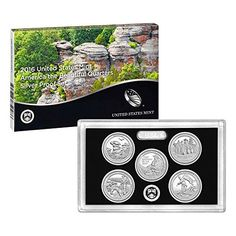 Coin Set: 2016 S America The Beautiful Quarters Silver Proof Set Ogp