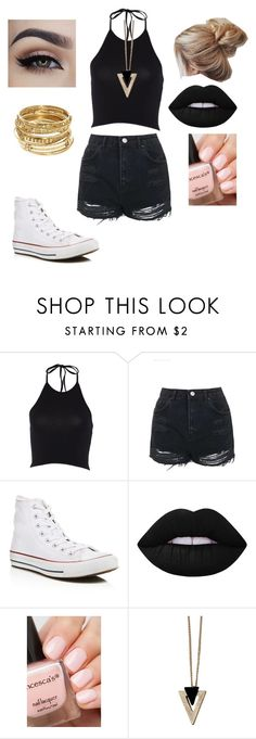 """"""","""" by trinitymahomie on Polyvore featuring Topshop, Converse, Lime Crime, Chicnova Fashion and ABS by Allen Schwartz"""