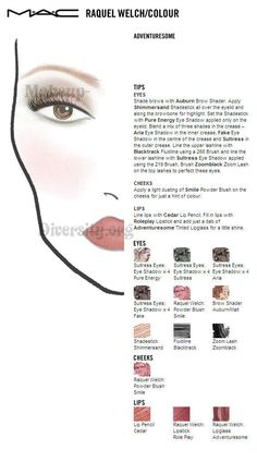 MAC Face Chart Raquel Welch Collection