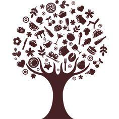 #Vinilo decorativo de #cocina (árbol)