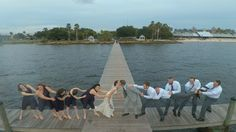 Tug-of-war with bridal party by drone http://celebrationsoftampabay.com/brandon-photographers/