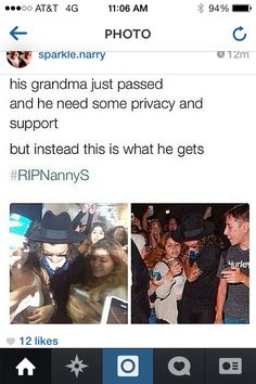 #RIPNannyS please leave him alone