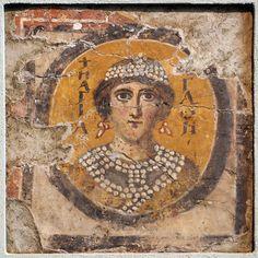 Santa Maria Antiqua, Roma. Affresco, SANTA AGATA; VII-VIII secolo
