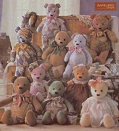 TEDDY BEAR Sewing Pattern - Elaine Heigl Designs ~ SOLD!