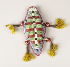 A SIOUX BEADED HIDE FETISH. . c. 1890... American Indian | Lot #77084 | Heritage Auctions