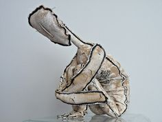textile sculpture by Catherine Rosselle