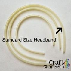 """12 mm Plastic Headband Standard Child/ Adult Sized Blank or Doll Sized.  These plastic headbands are 12mm wide, standard size and will fit a child up to adult.  These blank headbands are commonly used for weaving grosgrain ribbon onto them. They can be wrapped with various materials and 7/8"""" ribbon can easily be stitched into sleeves to cover them.   These headbands are sold in packs of 12. When ordering, each unit of 1 = 12 headbands. $3.50"""