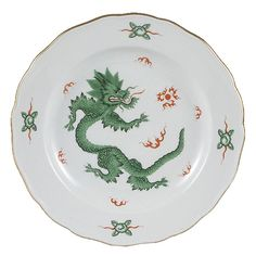 Meissen Ming Dragon China, Green