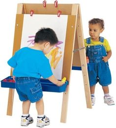 Shop Now for the Lowest Price and Fastest Delivery on Jonti-Craft Toddler Adjustable Easel at Apple School Supply Toddler Easel, Toddler Art, Toddler Crafts, Toddler Playroom, Montessori Toddler, Kids Crafts, Teaching Supplies, School Supplies, Floor Easel