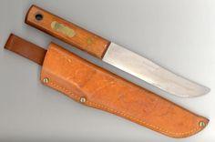 Pontus Holmberg Elkistuna Sweden Wood Handle Hunting Knife With Leather Scabbard   eBay