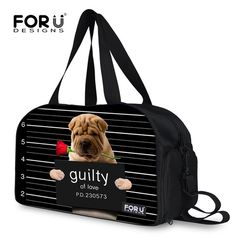 59.99$  Buy here - http://alis8l.worldwells.pw/go.php?t=32760522163 - FORUDESIGNS Black Men Women Duffle Gym Bag Cute Bulldog Printing Shoulder Sport Bag Large Size Male Female Outdoor Fitness Bags