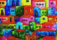 Digital Painting - Title of the Work: Villa Brazil