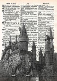 Hogwarts castle print Harry Potter print von FunkyArtPrints auf Etsy