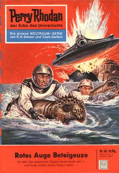 """Perry Rhodan - No. 48: Red Eye Of Betelgeuse  - by Clark Darlton: Cover artwork by """"Johnny"""" Bruck: Was US issue #40"""