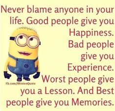 I need to remember to only blame myself and not anyone else for my actions.