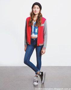 Como quieres que te quiera otoño invierno 2014 moda camperas universitarias 2014.