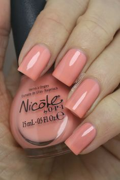 grape fizz nails: Nicole By OPI New Core Shades, 2014 I'll have the salmon
