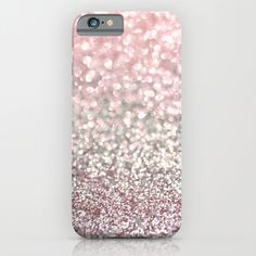 Girly PINK Snowfall glitter iphone cover/case