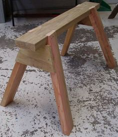 Simple sawhorse