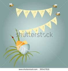 Happy Easter card vector - stock vector