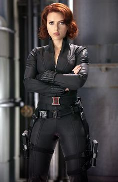 Scarlett Johanssons fiery red hair for The Avengers.. we love it! Get your own best hair color right at home: - Auburn Hair