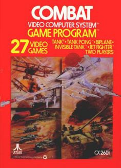 Atari 2600 COMBAT - CX2601, 1978, VF/NM Instruction booklet and NM '81 Rev B catalog included. Box in excellent condition. $12