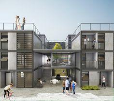 5° Lugar no concurso para Moradia Estudantil da Unifesp Osasco / Bacco Arquitetos Associados