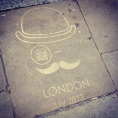 Keep an eye out for our English Gent on the streets of #London #shakeshackUK #stencil @Shake Shack