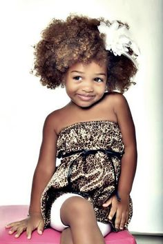Jaxon or Thalia's hair is going to look like this. I will NEVER relax their hair.