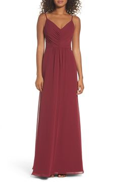 2c6bf3bf16e1 New Hayley Paige Occasions Gathered V-Neck Chiffon Gown