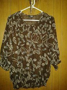 A.p.t 9v pretty top for her chiffion blouse free ship 4$14.99 size M