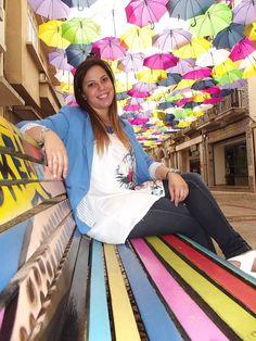 Bruna Seabra under umbrella sky :) * #Agitagueda2014 #streets #art #style #Agueda