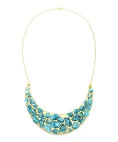 Another great find on #zulily! Blue & Goldtone Druzy Love Necklace by Eye Candy LA #zulilyfinds
