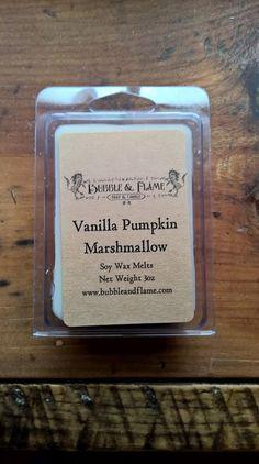 Vanilla Pumpkin Marshmallow Soy Wax Melts by BubbleandFlameNH