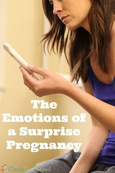 The emotions of a surprise pregnancy - there's definitely a lot!