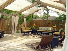 9 Bliss Tips AND Tricks: Garden Canopy Fairy Tales backyard canopy pergola cover. Deck Shade, Backyard Shade, Backyard Canopy, Pergola Shade, Deck Canopy, Canopy Outdoor, Window Canopy, Outdoor Blinds, Outdoor Flooring