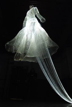 Fiber Optic Wedding Dress Fibre optic wedding dress