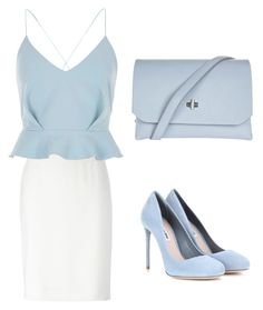 """""""Baby in Blue"""" by chookie1603 on Polyvore featuring Armani Collezioni, River Island, Miu Miu and Topshop"""