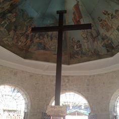 Magellan's Cross is perhaps the most recognizable landmark of Cebu City. It is located at Plaza Sugbu in between the Cebu City Hall and the Basilica Minore del Santo Niño. Cebu City, Philippines, Saints, Cebu