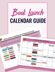 Book Launch Calendar Guide for authors and writers