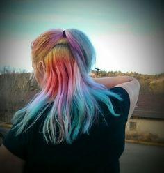 Ocean sunrise - multi colored hair dye - opal mermaid